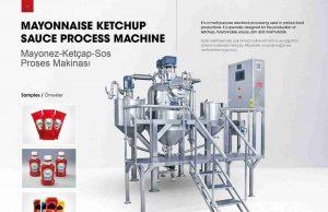 Ketchup Mayonnaise Sauce Making Production Machine